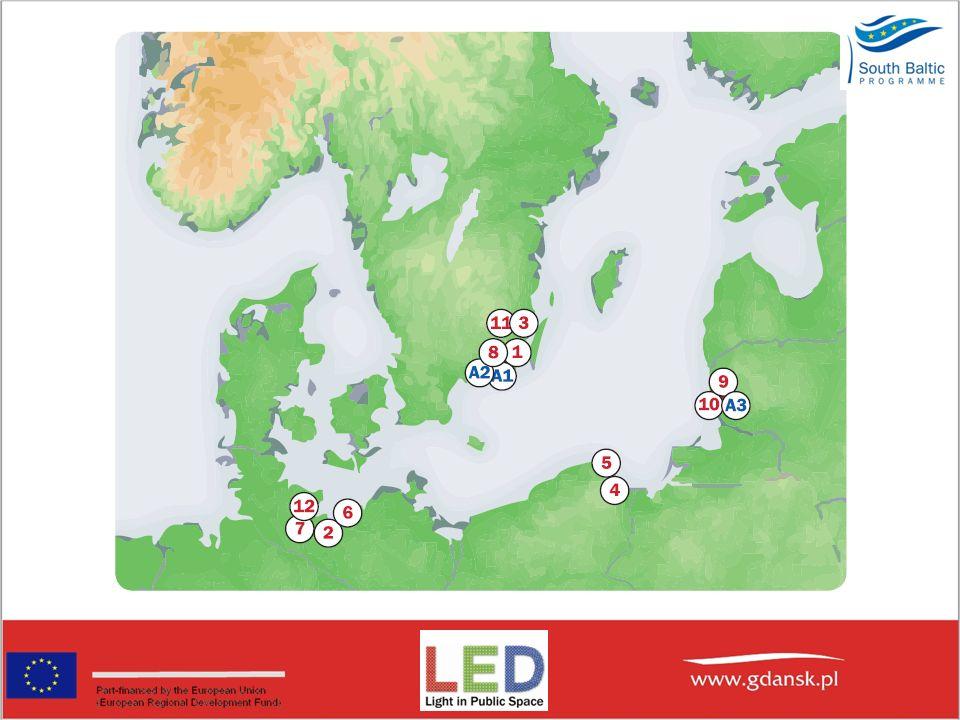 Cele Projektu LED: -Dostarczenie zweryfikowanych argumentów na rzecz powszechnego zastosowania energo-oszczednego oświetlenia LED-owego w miastach i na drogach.