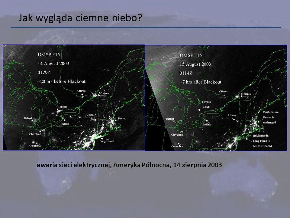 Jak wygląda ciemne niebo? awaria sieci elektrycznej, Ameryka Północna, 14 sierpnia 2003