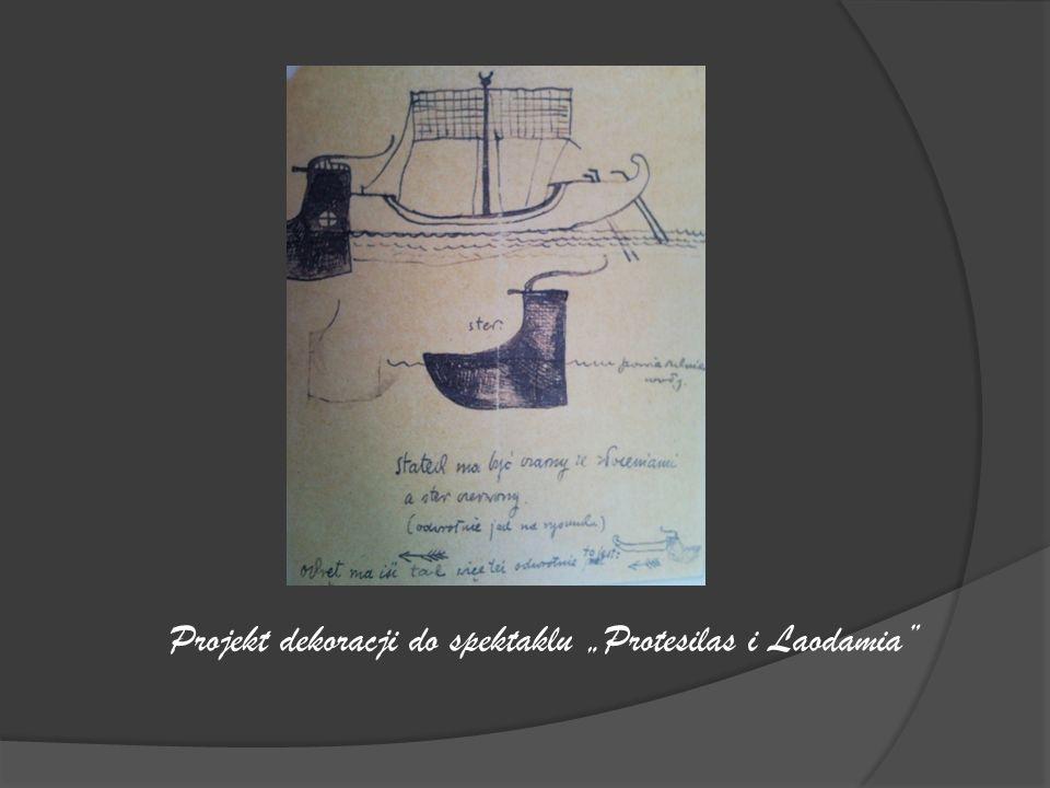 Projekt dekoracji do spektaklu Protesilas i Laodamia