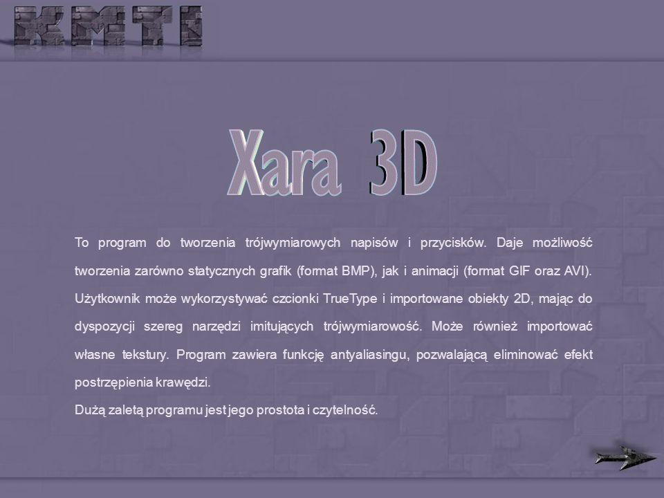 To program do tworzenia trójwymiarowych napisów i przycisków.