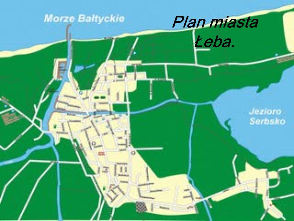 Plan miasta Łeba.