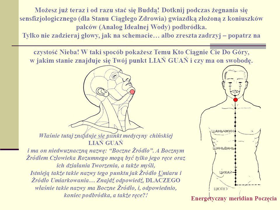 Możesz już teraz i od razu stać się Buddą! Dotknij podczas żegnania się sensfizjologicznego (dla Stanu Ciągłego Zdrowia) gwiazdką złożoną z koniuszków