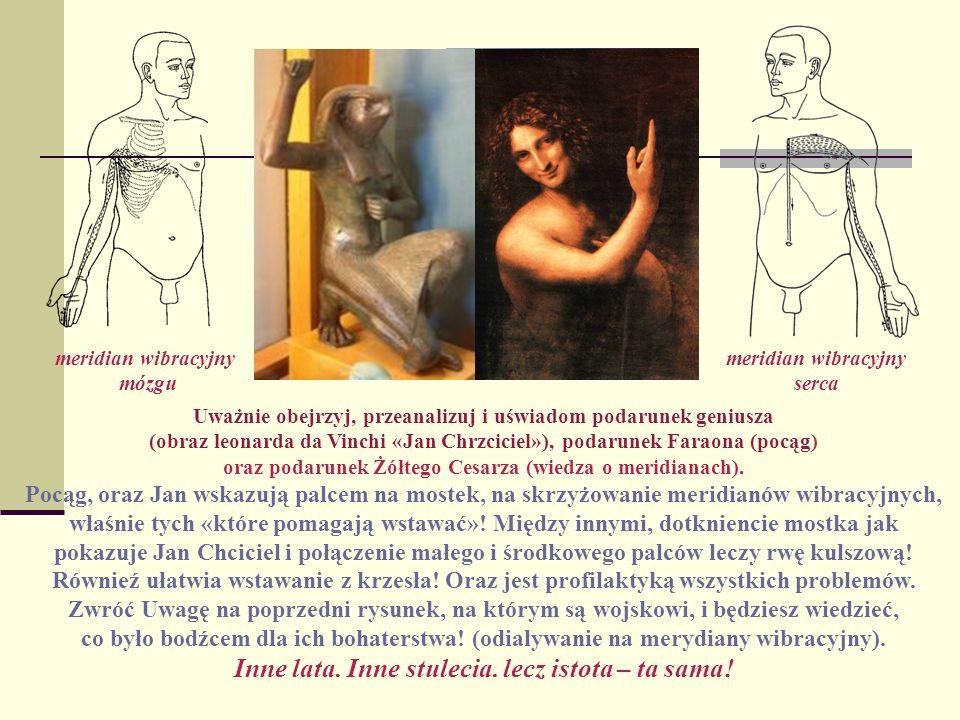 Uważnie obejrzyj, przeanalizuj i uświadom podarunek geniusza (obraz leonarda da Vinchi «Jan Chrzciciel»), podarunek Faraona (pocąg) oraz podarunek Żół