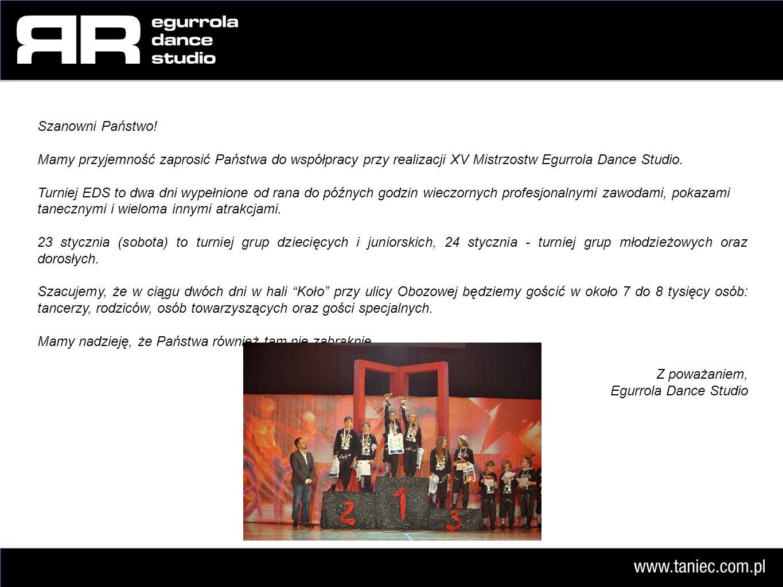 Agata Jurek Egurrola Dance Studio ul.Kasprzaka 24a 01-211 Warszawa Tel.