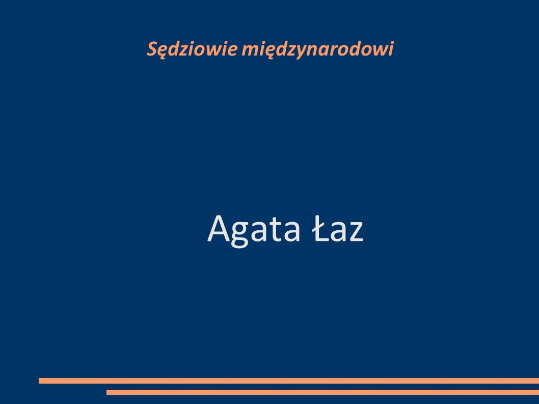 Sędziowie międzynarodowi Agata Łaz