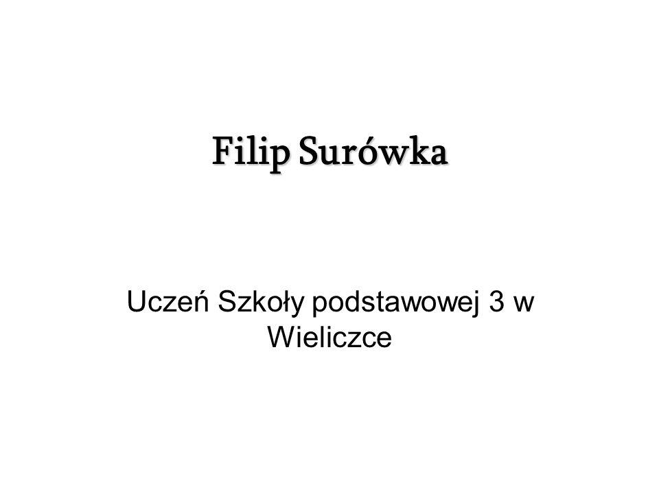 Filip Surówka Uczeń Szkoły podstawowej 3 w Wieliczce
