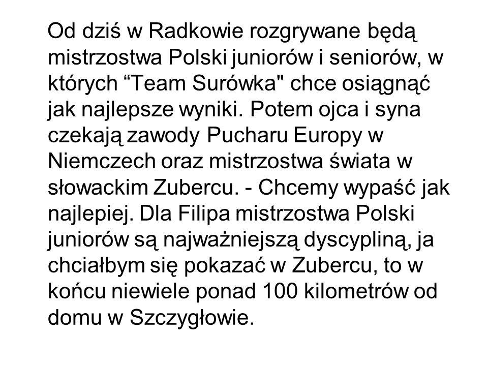 Od dziś w Radkowie rozgrywane będą mistrzostwa Polski juniorów i seniorów, w których Team Surówka