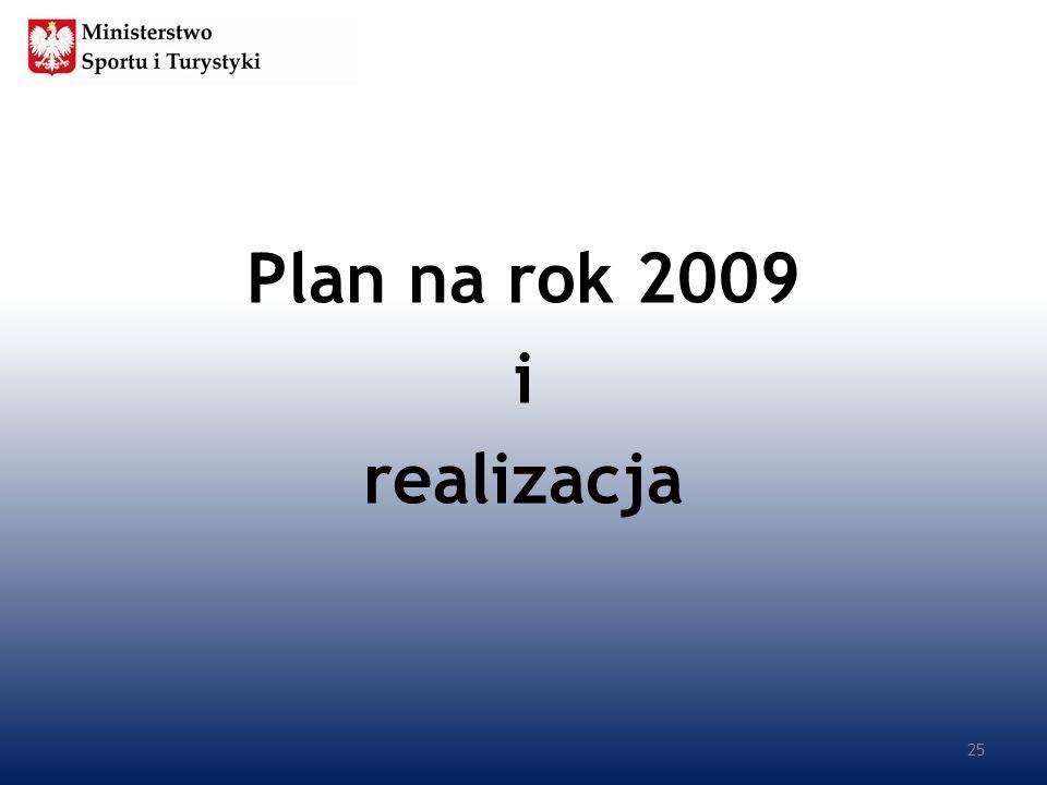 Plan na rok 2009 i realizacja 25