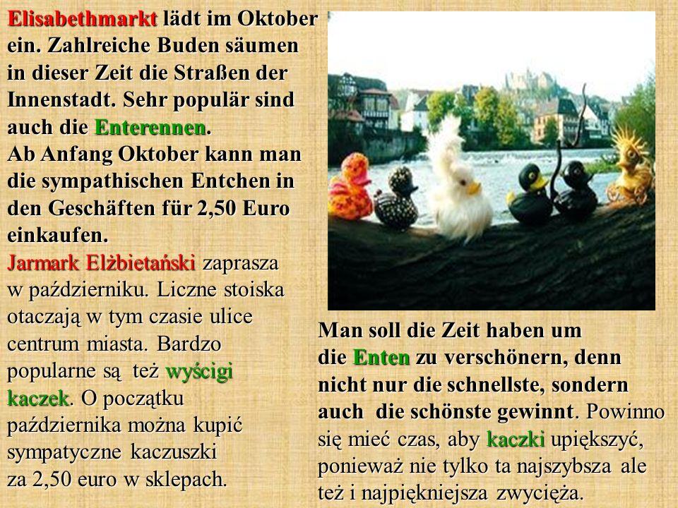 Elisabethmarkt lädt im Oktober ein.