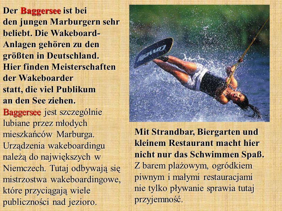 Der Baggersee ist bei den jungen Marburgern sehr beliebt.