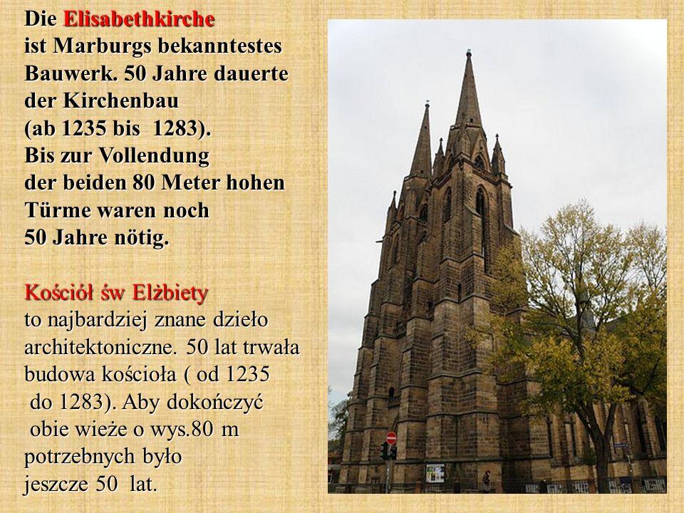 Die Elisabethkirche ist Marburgs bekanntestes Bauwerk.