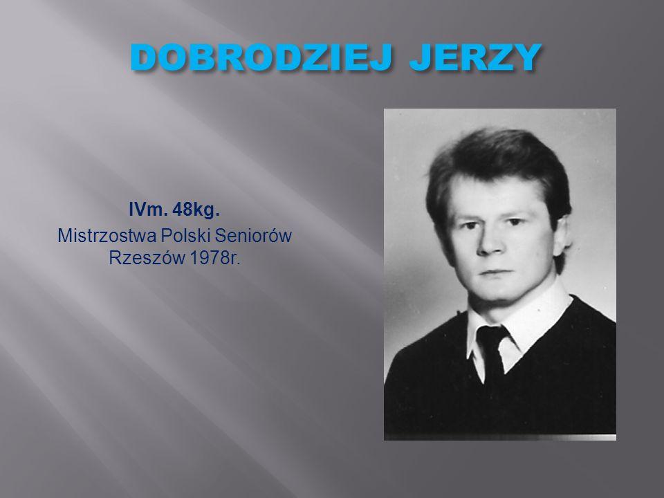 WOLSKI ZBIGNIEW IVm. 52kg. Mistrzostwa Polski Seniorów Warszawa 1989r.