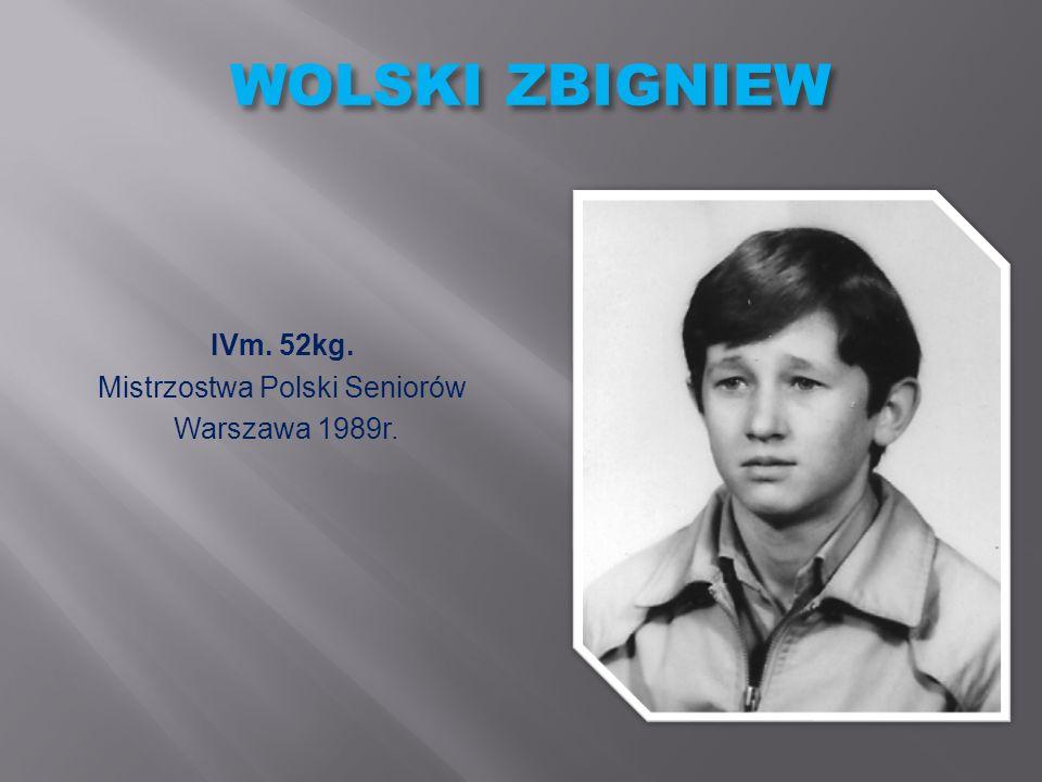 WASILEWSKI MAREK SREBRNY MEDAL 69kg. Mistrzostwa Polski Szkół Rolniczych Borkowice 2000r.