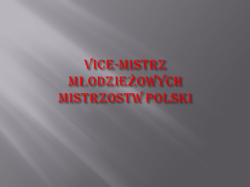 ADAMCZYK RAFAŁ ZŁOTY MEDAL 115kg.Mistrzostwach Polski Szkół Rolniczych Stargard Szczeciński 1998r.