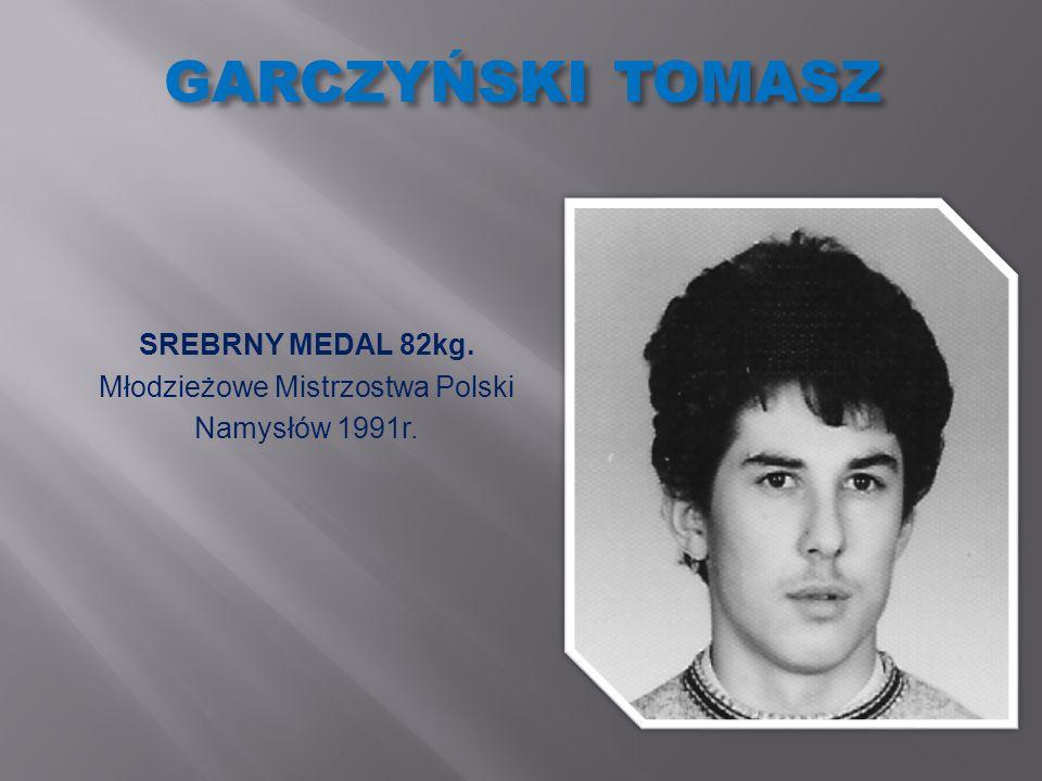 PAWLIKOWSKI RAFAŁ BRĄZOWY MEDAL 81kg. Ogólnopolska Olimpiada Młodzieży Wola 1996r.