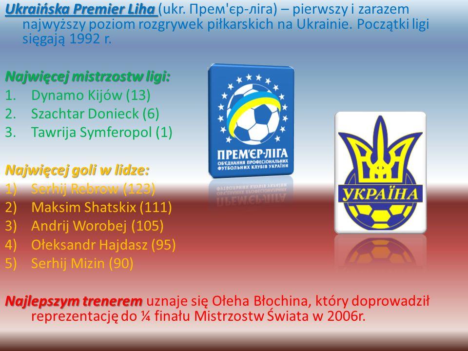 Ukraińska Premier Liha Ukraińska Premier Liha (ukr. Прем'єр-ліга) – pierwszy i zarazem najwyższy poziom rozgrywek piłkarskich na Ukrainie. Początki li