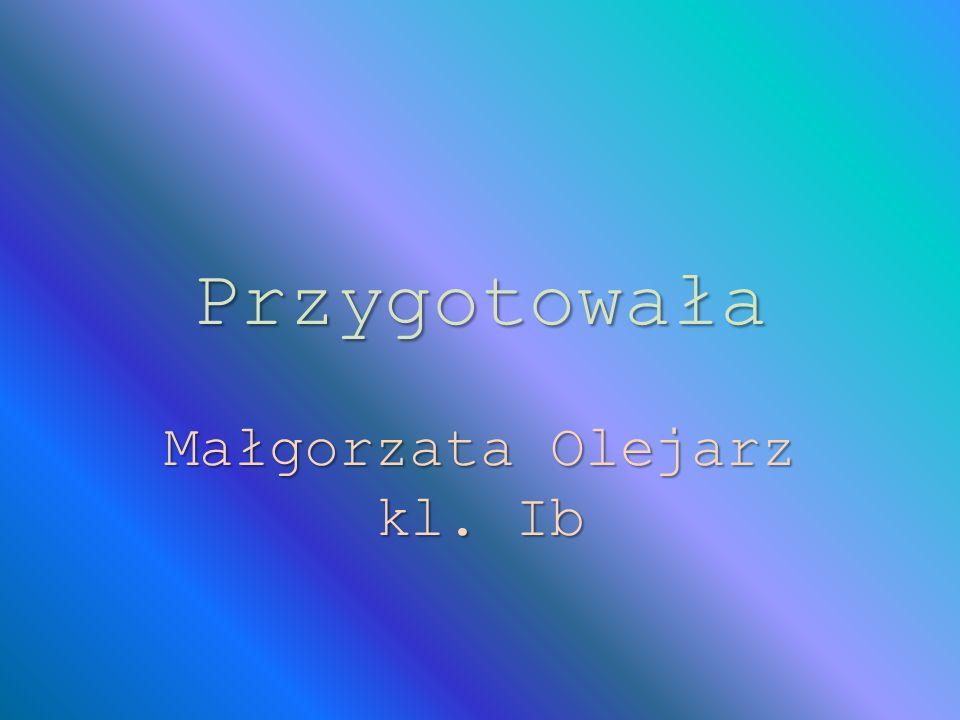 Przygotowała Małgorzata Olejarz kl. Ib