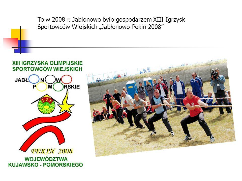 To w 2008 r. Jabłonowo było gospodarzem XIII Igrzysk Sportowców Wiejskich Jabłonowo-Pekin 2008