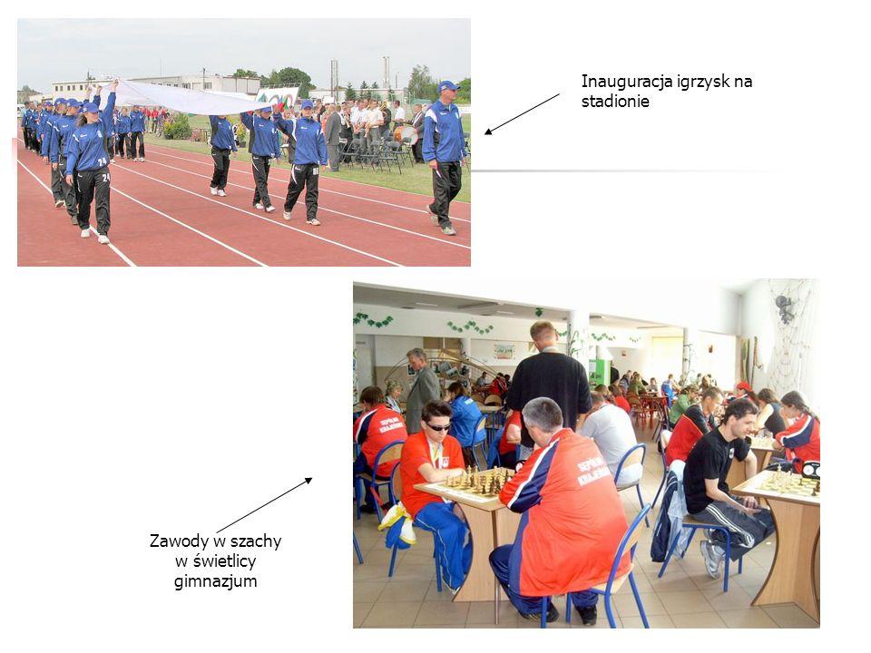 Zawody w szachy w świetlicy gimnazjum Inauguracja igrzysk na stadionie