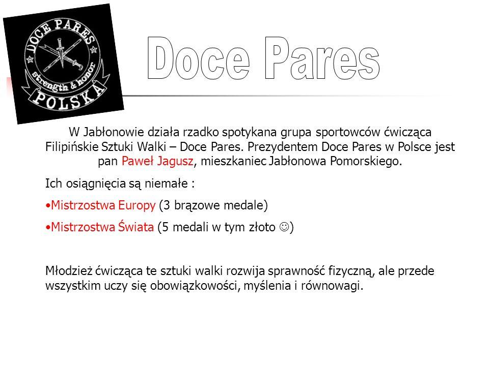 W Jabłonowie działa rzadko spotykana grupa sportowców ćwicząca Filipińskie Sztuki Walki – Doce Pares. Prezydentem Doce Pares w Polsce jest pan Paweł J