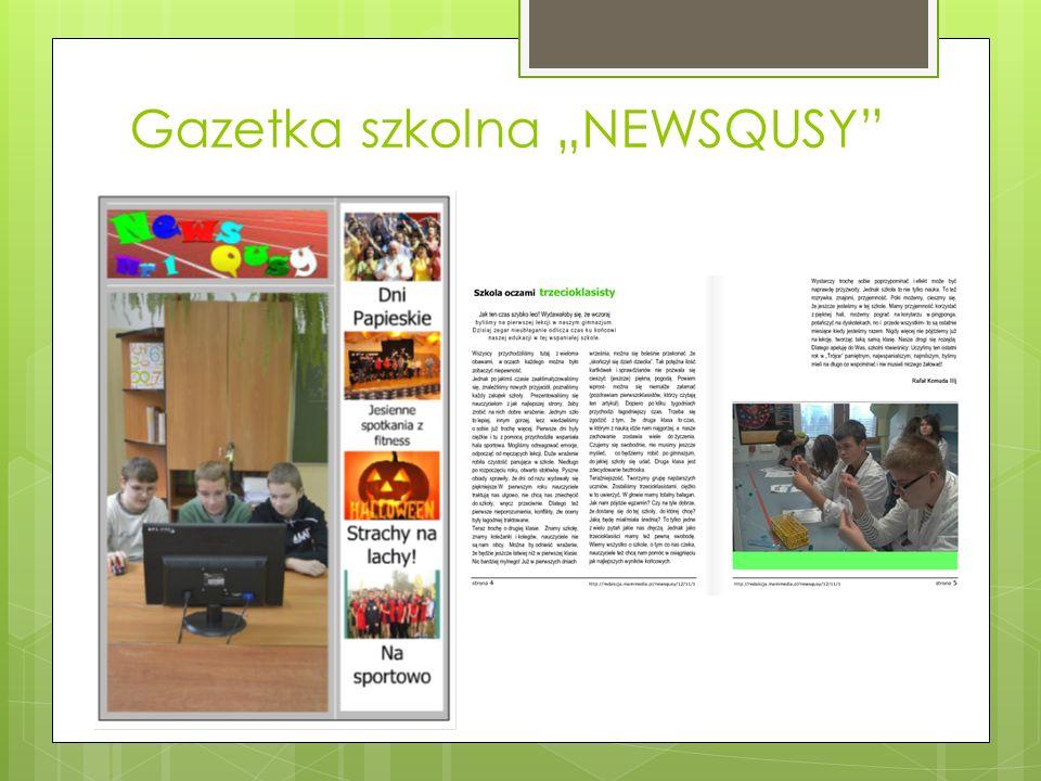 Gazetka szkolna NEWSQUSY
