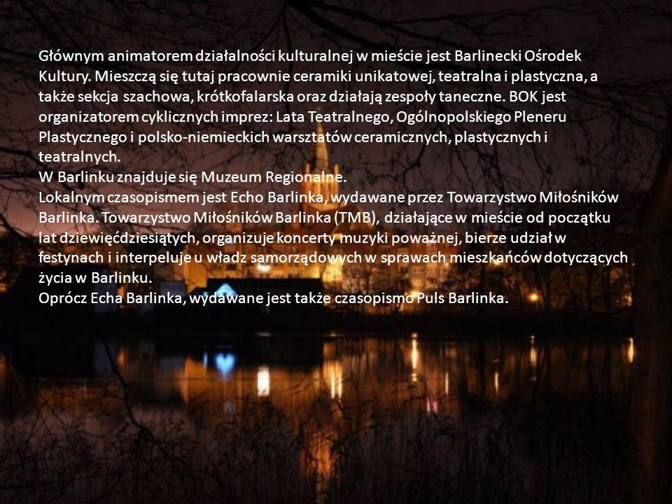 Głównym animatorem działalności kulturalnej w mieście jest Barlinecki Ośrodek Kultury.