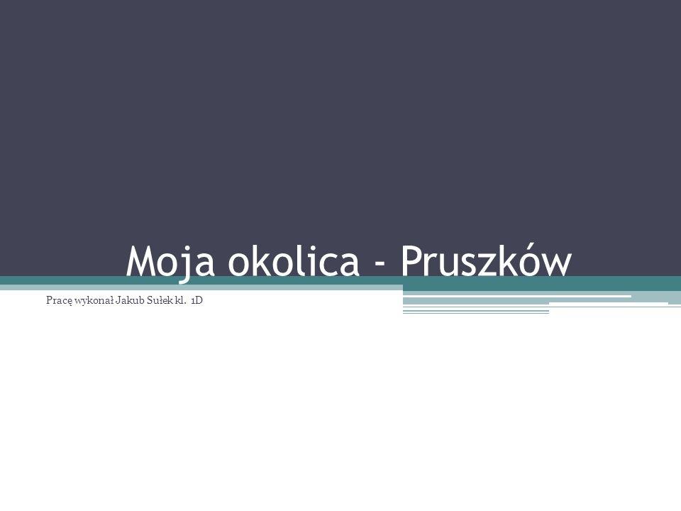 Mieszkam na Żbikowie, głównej dzielnicy Pruszkowa.
