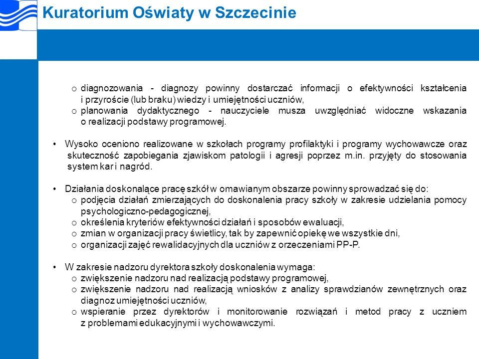 Kuratorium Oświaty w Szczecinie I.2.3.Gimnazja.