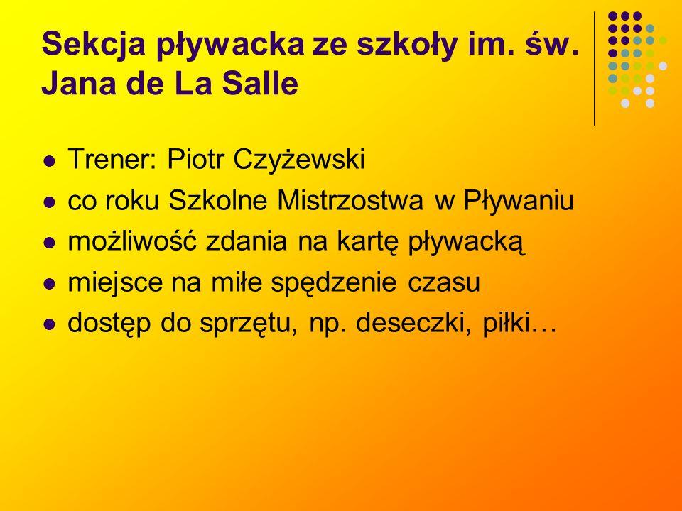 Sekcja pływacka ze szkoły im.św.