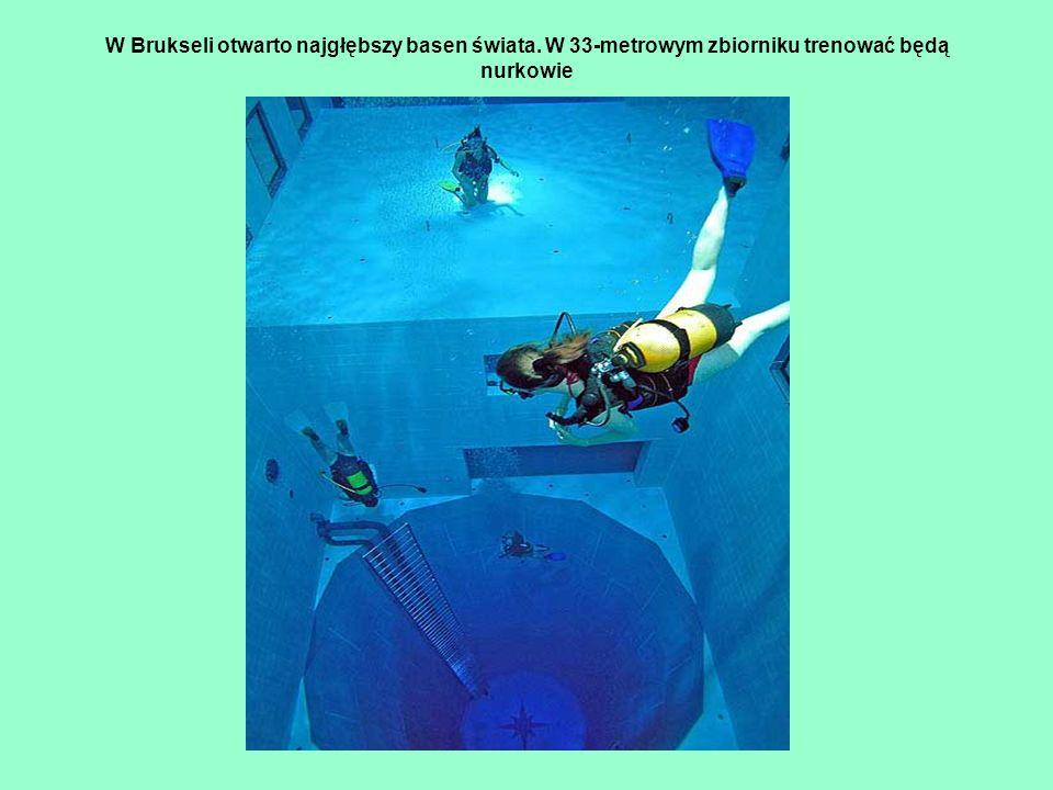 W Brukseli otwarto najgłębszy basen świata. W 33-metrowym zbiorniku trenować będą nurkowie