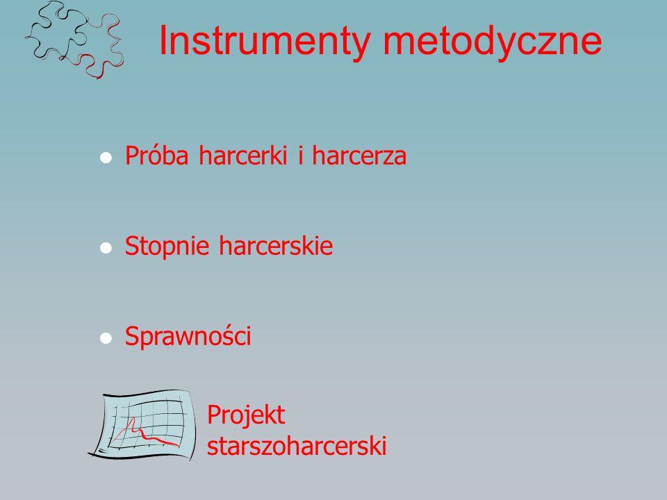 Instrumenty metodyczne Próba harcerki i harcerza Stopnie harcerskie Sprawności Projekt starszoharcerski