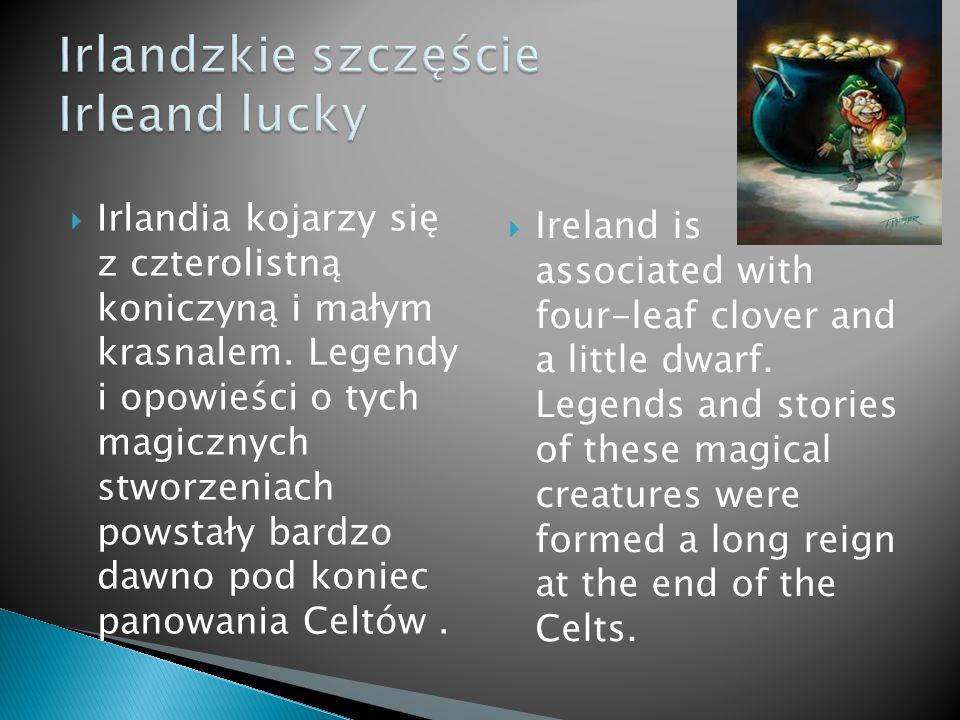 Irlandia kojarzy się z czterolistną koniczyną i małym krasnalem.