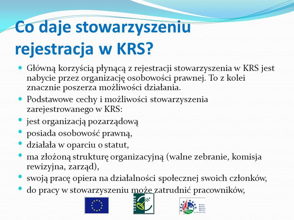 Co daje stowarzyszeniu rejestracja w KRS? Główną korzyścią płynącą z rejestracji stowarzyszenia w KRS jest nabycie przez organizację osobowości prawne