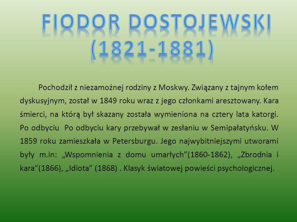 Pochodził z niezamożnej rodziny z Moskwy. Związany z tajnym kołem dyskusyjnym, został w 1849 roku wraz z jego członkami aresztowany. Kara śmierci, na
