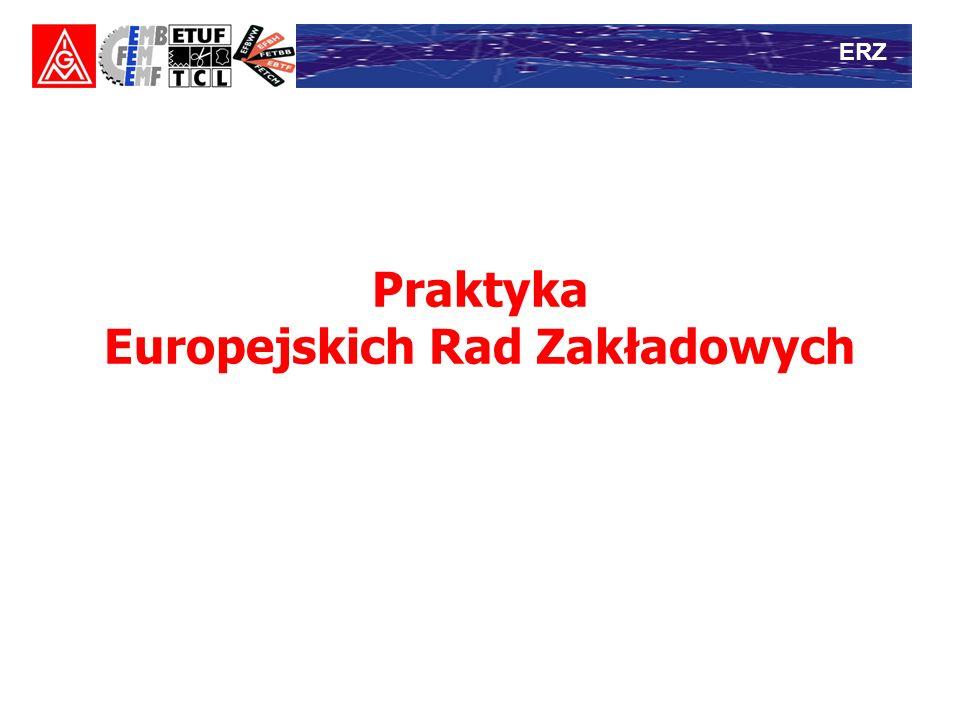 Praktyka Europejskich Rad Zakładowych ERZ