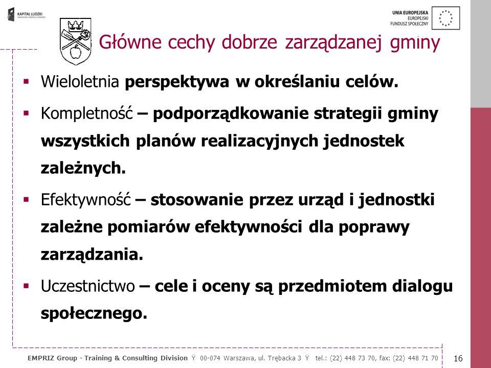15 EMPRIZ Group - Training & Consulting Division Ÿ 00-074 Warszawa, ul. Trębacka 3 Ÿ tel.: (22) 448 73 70, fax: (22) 448 71 70 Władze przedsiębiorcze