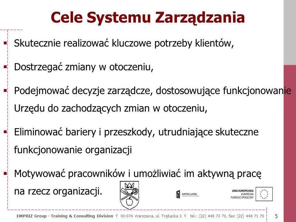 5 EMPRIZ Group - Training & Consulting Division Ÿ 00-074 Warszawa, ul.
