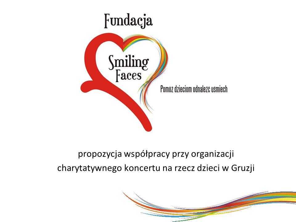 propozycja współpracy przy organizacji charytatywnego koncertu na rzecz dzieci w Gruzji