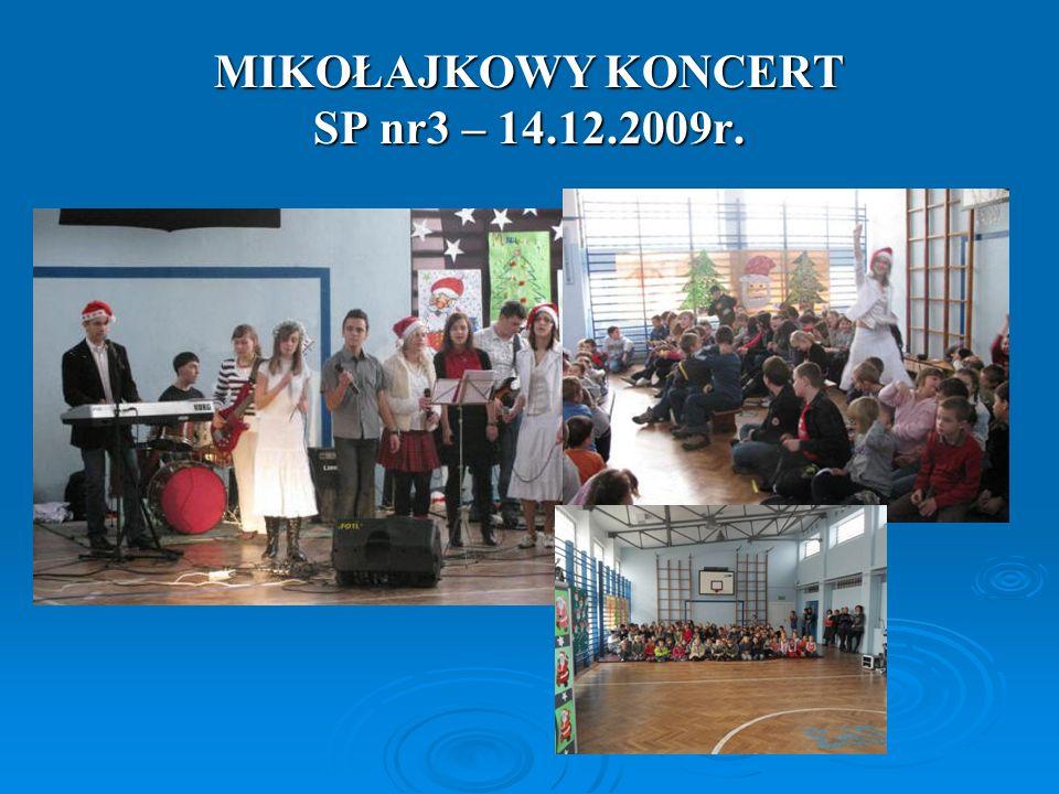 MIKOŁAJKOWY KONCERT SP nr3 – 14.12.2009r.