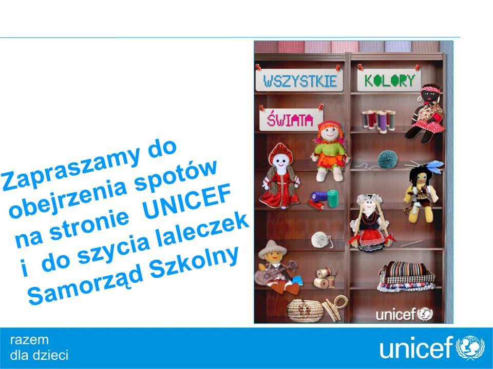Zapraszamy do obejrzenia spotów na stronie UNICEF i do szycia laleczek Samorząd Szkolny