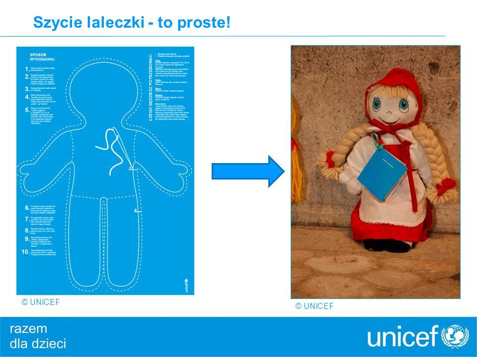 Szycie laleczki - to proste! © UNICEF
