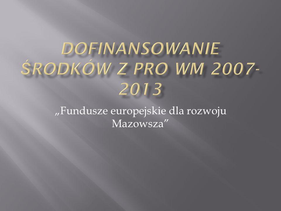 Fundusze europejskie dla rozwoju Mazowsza