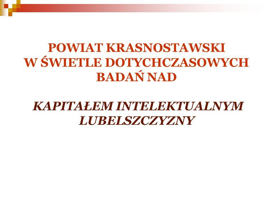 Założenia wstępne strategii innowacji sektory uznane za kluczowe z punktu widzenia rozwoju powiatu krasnostawskiego
