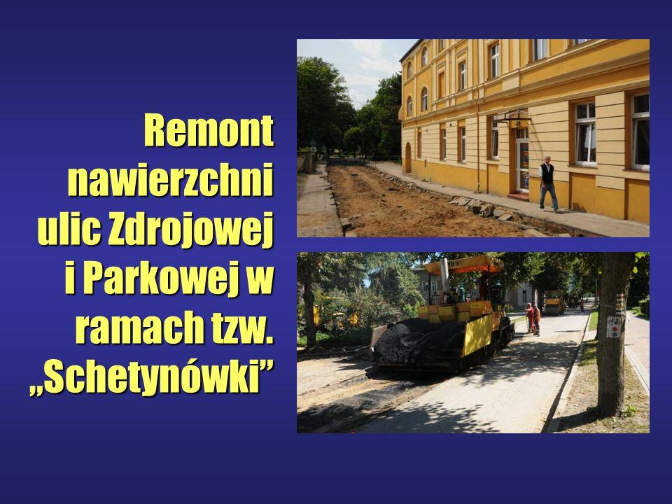 Remont nawierzchni ulic Zdrojowej i Parkowej w ramach tzw. Schetynówki