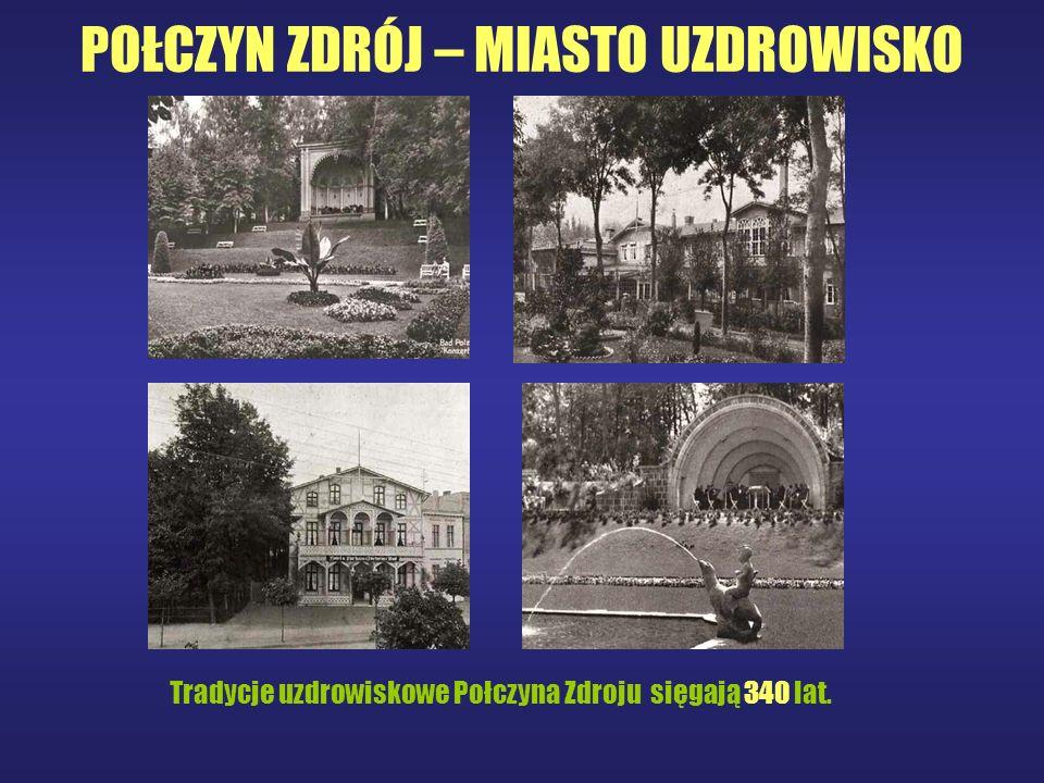 PARK ZDROJOWY Jedną z największych atrakcji Połczyna Zdroju jest PARK ZDROJOWY o pow. 80 ha