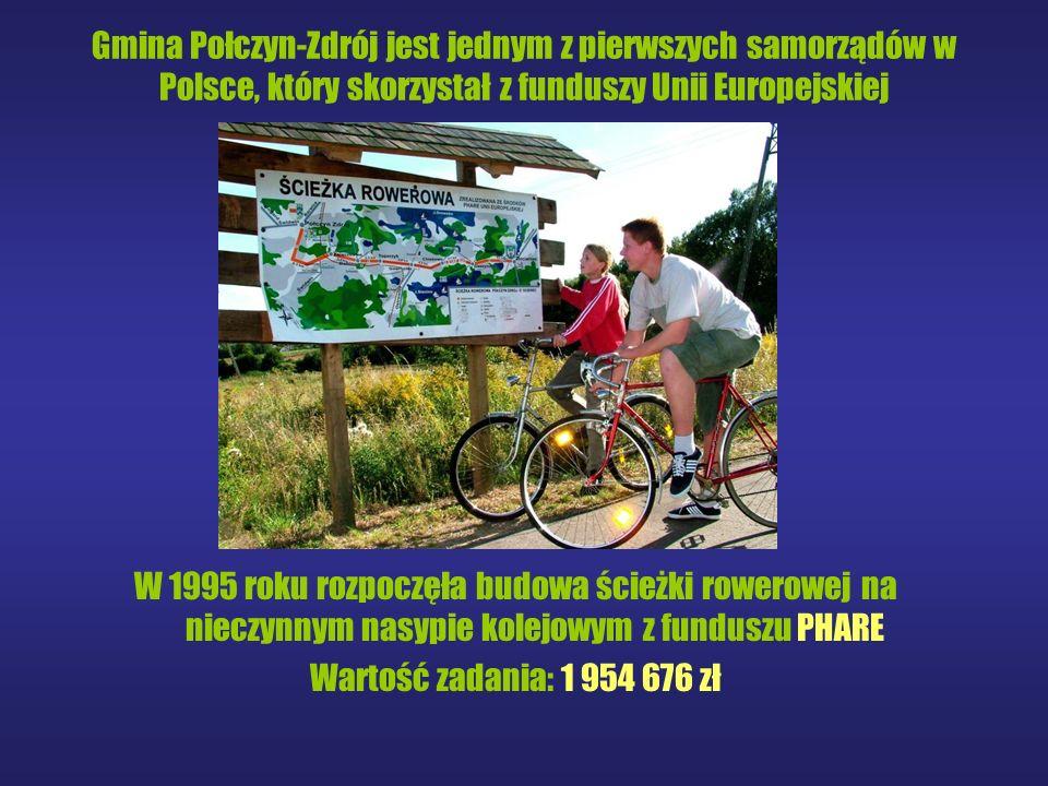 Gmina Połczyn-Zdrój jest jednym z pierwszych samorządów w Polsce, który skorzystał z funduszy Unii Europejskiej W 1995 roku rozpoczęła budowa ścieżki