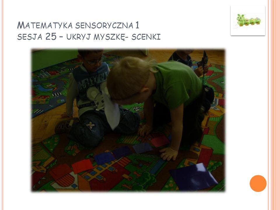 M ATEMATYKA SENSORYCZNA 1 SESJA 25 – UKRYJ MYSZKĘ - SCENKI