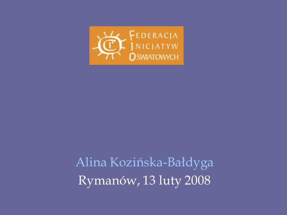 Alina Kozińska-Bałdyga Rymanów, 13 luty 2008