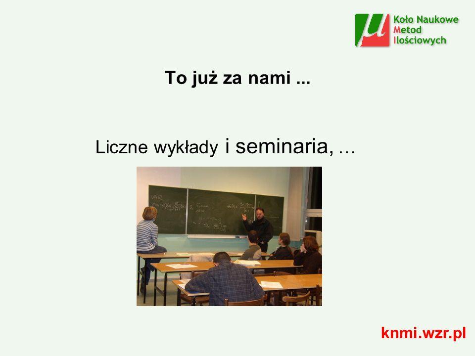 To już za nami... Liczne wykłady i seminaria, … knmi.wzr.pl
