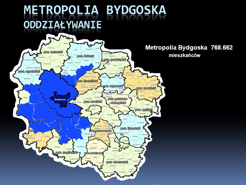 Metropolia Bydgoska 768.662 mieszkańców